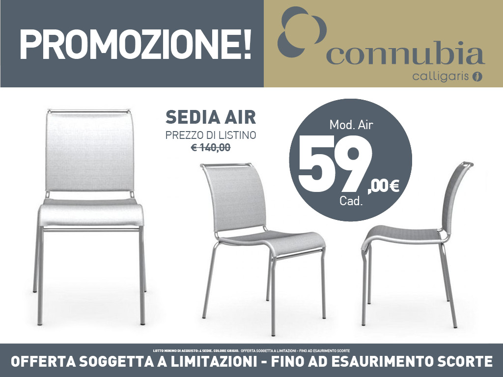 Presotto Outlet: sedie connubia mod air